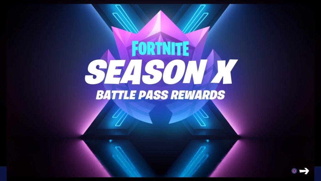 Fortnite Season X Battle Pass Rewards