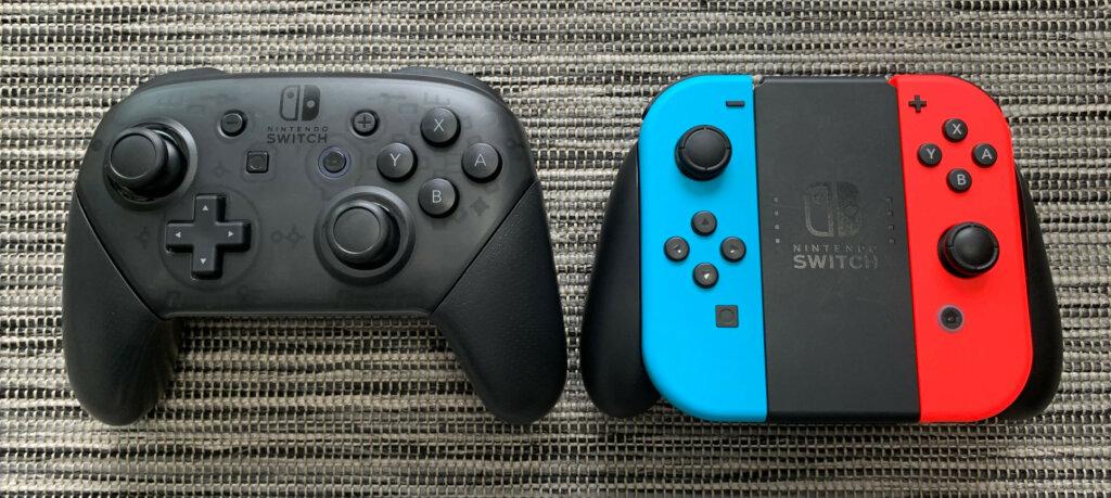 Switch Pro Controller ja Joy-Con-ohjaimet